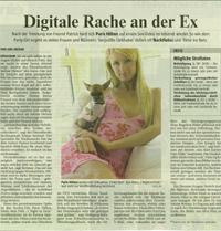 23.03.07 Rheinische Post: Digitale Rache an der Ex
